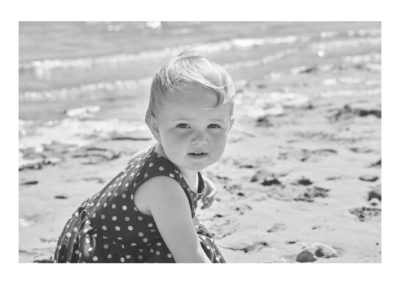 Portrait of Leah on a beach